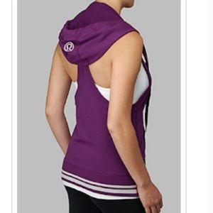 Lululemon athletica halter hoodie potion purple